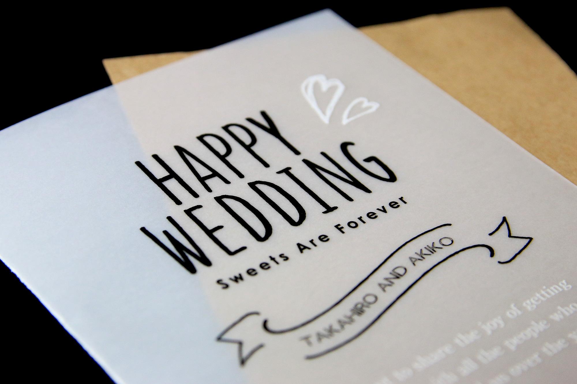 結婚式案内状